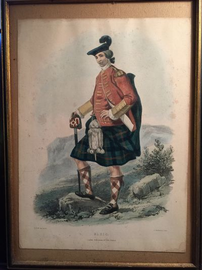 "Image for L. Dickinson Hand Colored Lithograph ""Ulric"" Scottish Highland Clan"