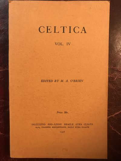 Image for Celtica IV Edited By M. A. O' Brien