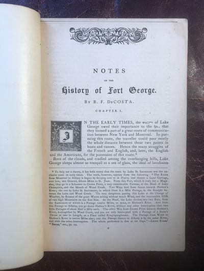 Image for Notes On The History of Fort George  Original 1871 Edition
