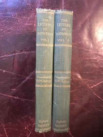 Image for The letters of Sidonius Translated With Introduction And Notes  Original Two Vol Set.
