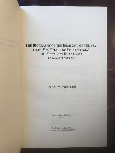 Image for The Biography of the Irish God of the Sea from the Voyage of Bran (700 A. D.) to Finnegan's Wake (1939): The Waves of Manannan (Studies in Irish Literature, 13)