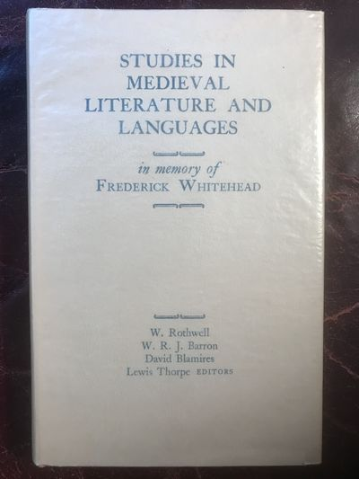 Image for Studies In Medieval Literature And Languages In Memory Of Frederick Whitehead Merlin's Sardonic Laughter Lewis Thorpe