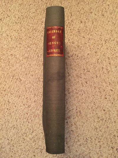 Image for On The Calendar Of Oengus Leabar Brecc  Original 1875 Folio Hardcover