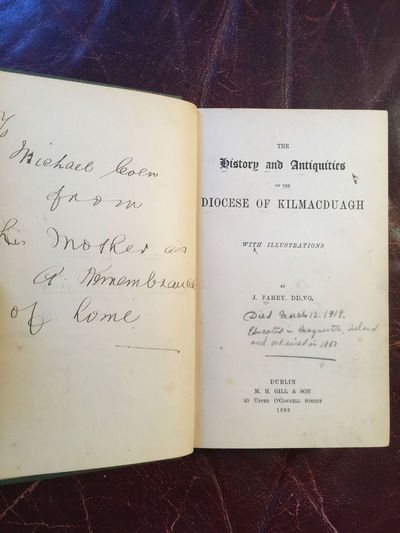 Image for The History And Antiquities Of The Diocese Kilmacduagh Original 1893 Hardcover