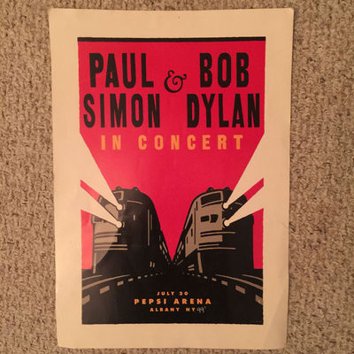 Image for Paul Simon & Bob Dylan In Concert  July 20 Pepsi Arena Albany NY 99' Original Concert Poster Purchased at Concert