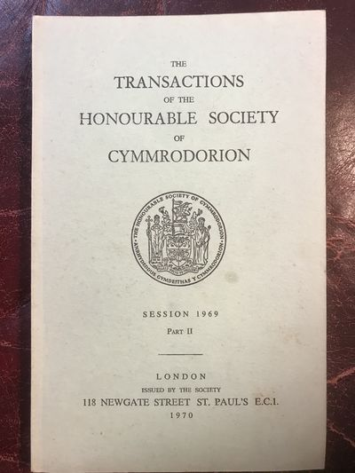 Image for Arthurian Onomastics Prof. Melville Richards The-Transactions-Of-The-Honourable-Society-Of-Cymmrodorion Session 1969 Part II  Original Edition